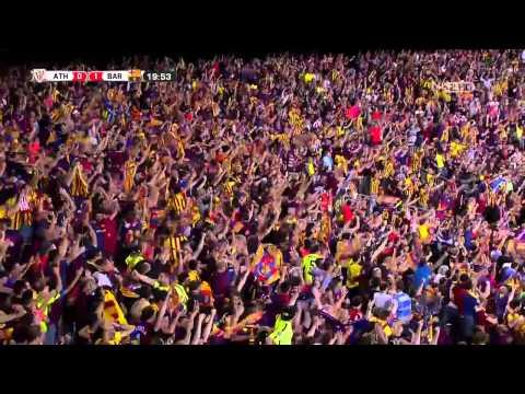Athletic Bilbao VS Barcelona 0-1 Messi Super GOAL (Final COPA Del Rey)