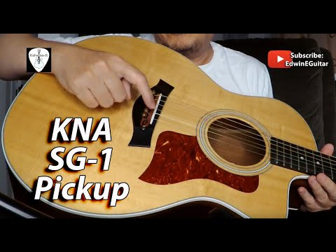 KNA SG-1 Acoustic Guitar Pickup Demo Review By Edwin-E