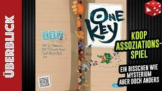 One Key (Asmodee 2019) - kooperatives Assoziationsspiel für 2-6 Spieler, 20 Minuten Spieldauer