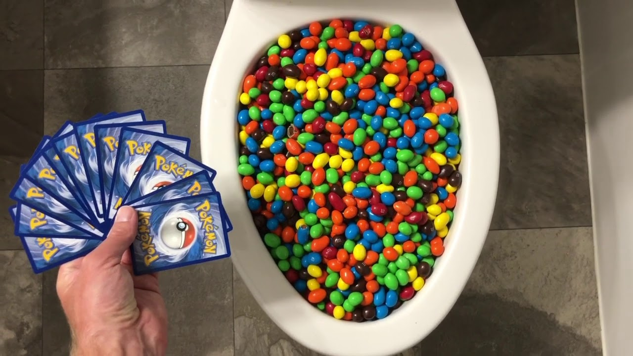 Will it Flush? - M&M's and Pokemon Cards