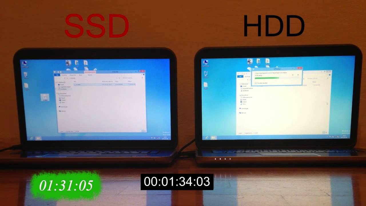 Ssd Vs Hdd Laptopkalauz Speed Test Youtube