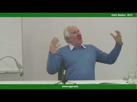 Alain Badiou. The Ontology of Change. 2012