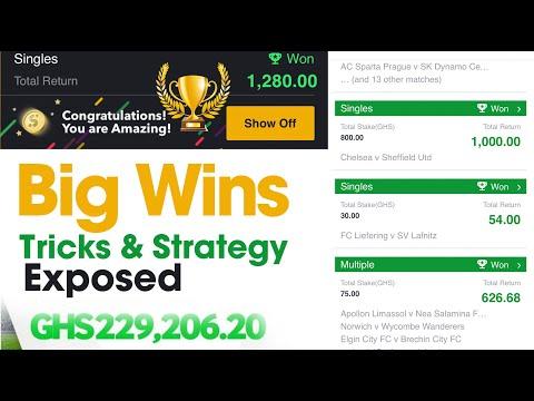 Strategies for Sports Betting - Make 170$ Profit, sportybet tricks, big win, sportybet hack, bet365