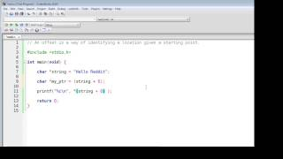Lesson 16.1 : Using Pointers with Offsets