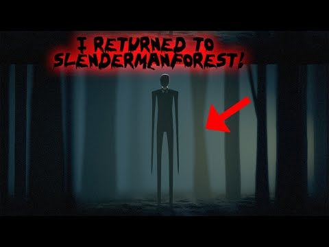 I RETURNED TO SLENDERMAN FOREST AND FOUND THIS! (WE WERE CHASED)