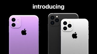 introducing iPhone 11 and iPhone 11 Pro concept