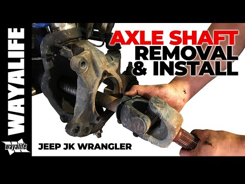 Jeep JK Wrangler Front Axle Shaft Removal & Installation