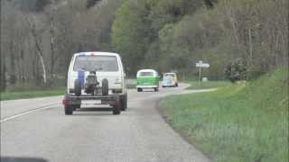 Meeting VW Annecy 2013 T2 T3 et Cox moteur moto en towbar