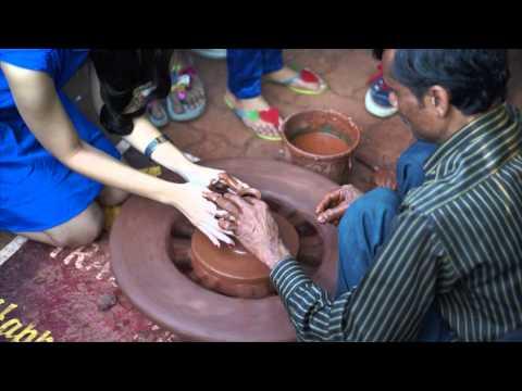 Pottery Demonstration at the Kala Ghoda Art Festival, Mumbai India