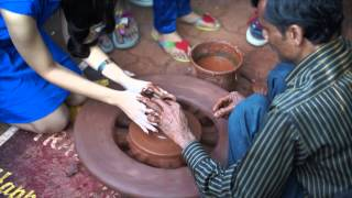 Pottery Demonstration at the Kala Ghoda Art Festival, Mumbai India