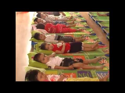 Bữa ăn và giấc ngủ của các bé trường mầm non Hồng Nhung T.p Thái Bình
