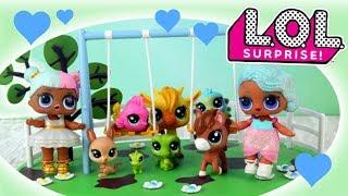 LOL Surprise & Littlest Pet Shop • Zwierzęta w Parku!!! • bajki dla dzieci