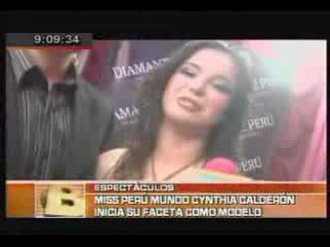 Cynthia Calderón Sesión de Fotos - Diamante Perú (BDP)
