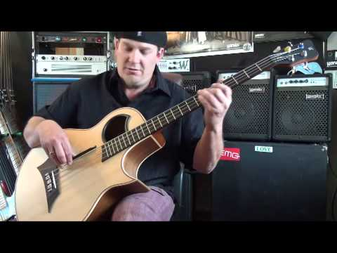 Warwick Product Specialist Andy Irvine DEMO Warwick Alien Acoustic Bass