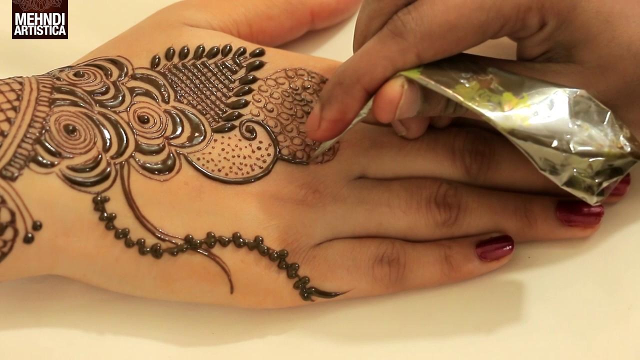 How to apply new latest henna mehndi designs for hands for eid how to apply new latest henna mehndi designs for hands for eiddiwaliweddings tutorial video baditri Images