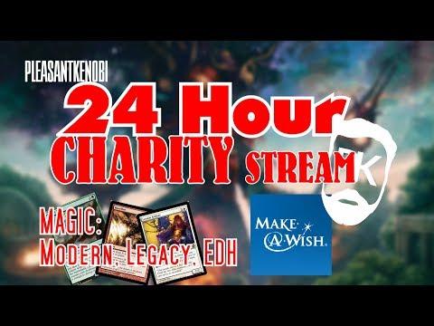 24 Hour MTG Stream - for Make-A-Wish - PleasantKenobi - Modern, Legacy, Commander