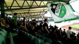 VfL Wolfsburg Amateure - Hannover 96 Amateure 11.08.2014 Wechselgesang im Gästeblock