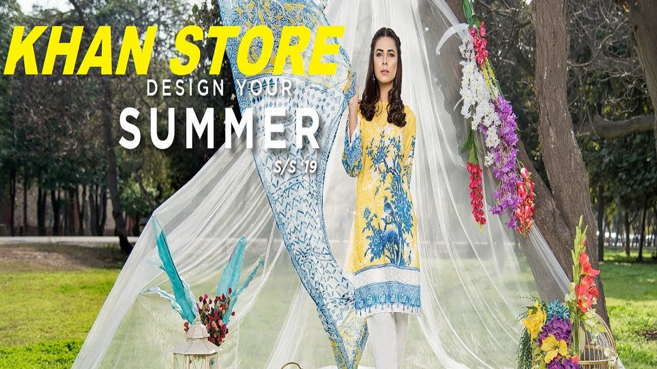 SHAPOSH | SPRING SUMMER 2019 | CASUAL WEAR LAWN COLLECTION | KHAN STORE |