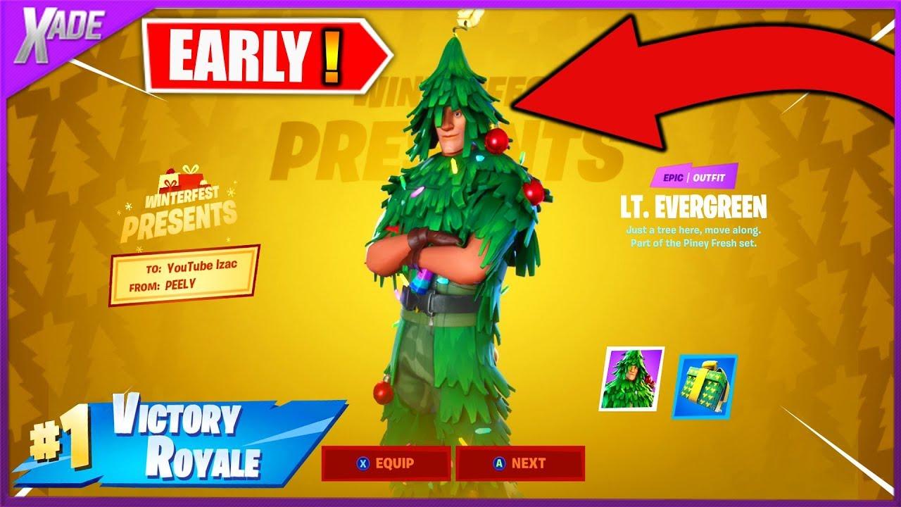UNLOCKING the CHRISTMAS TREE skin in FORTNITE! - YouTube