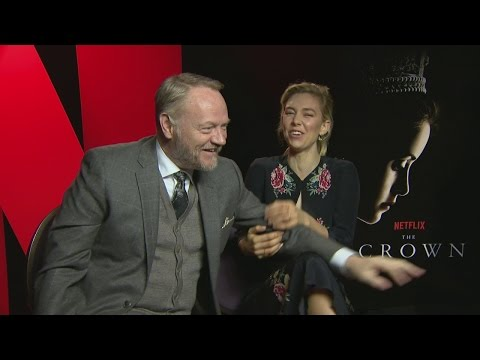 The Crown: Vanessa Kirby and Jared Harris on filming the series