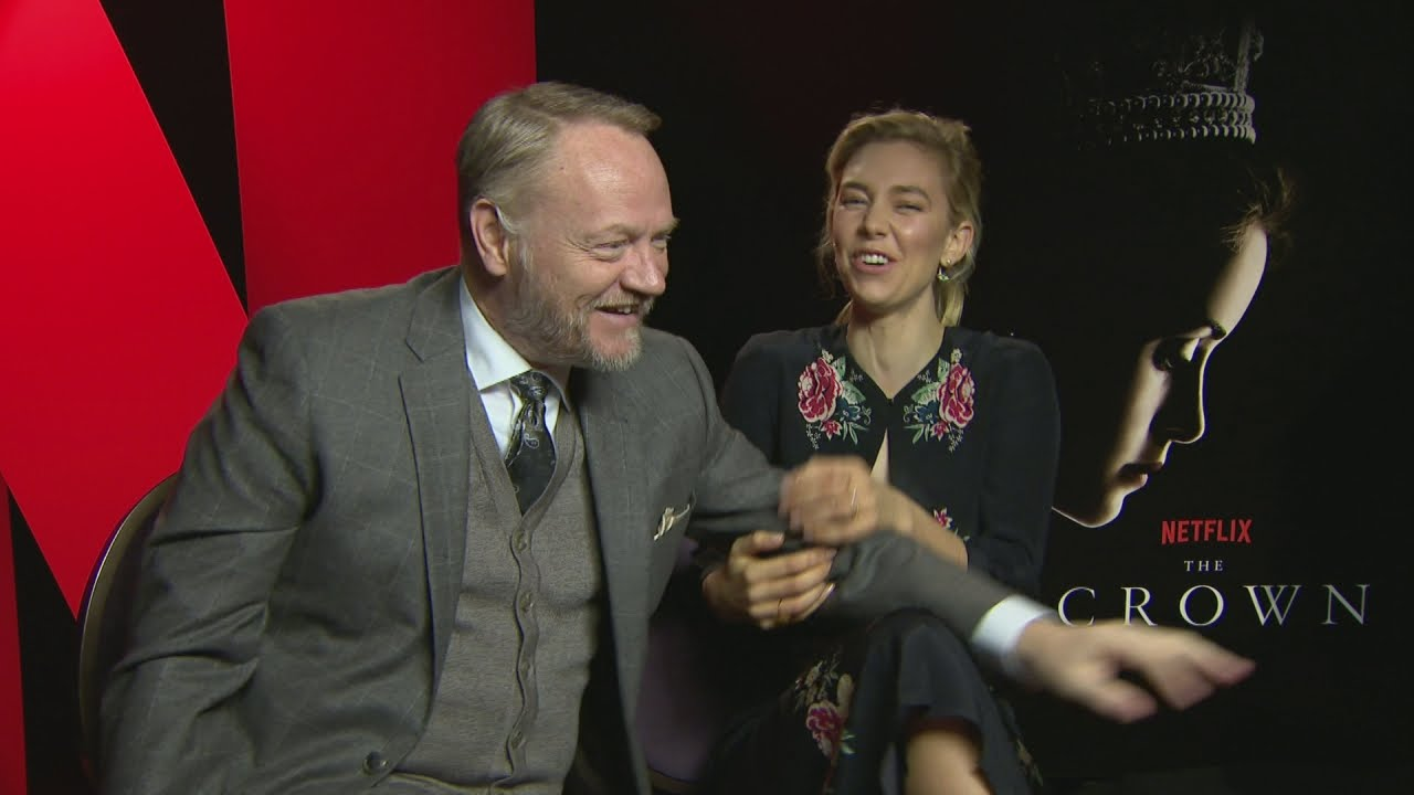 Vanessa Kirby and Jared Harris on The Crown - video