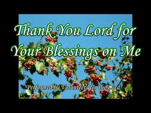 Thank You Lord for Your Blessings On Me   Gospel Song with Lyrics   YouTube