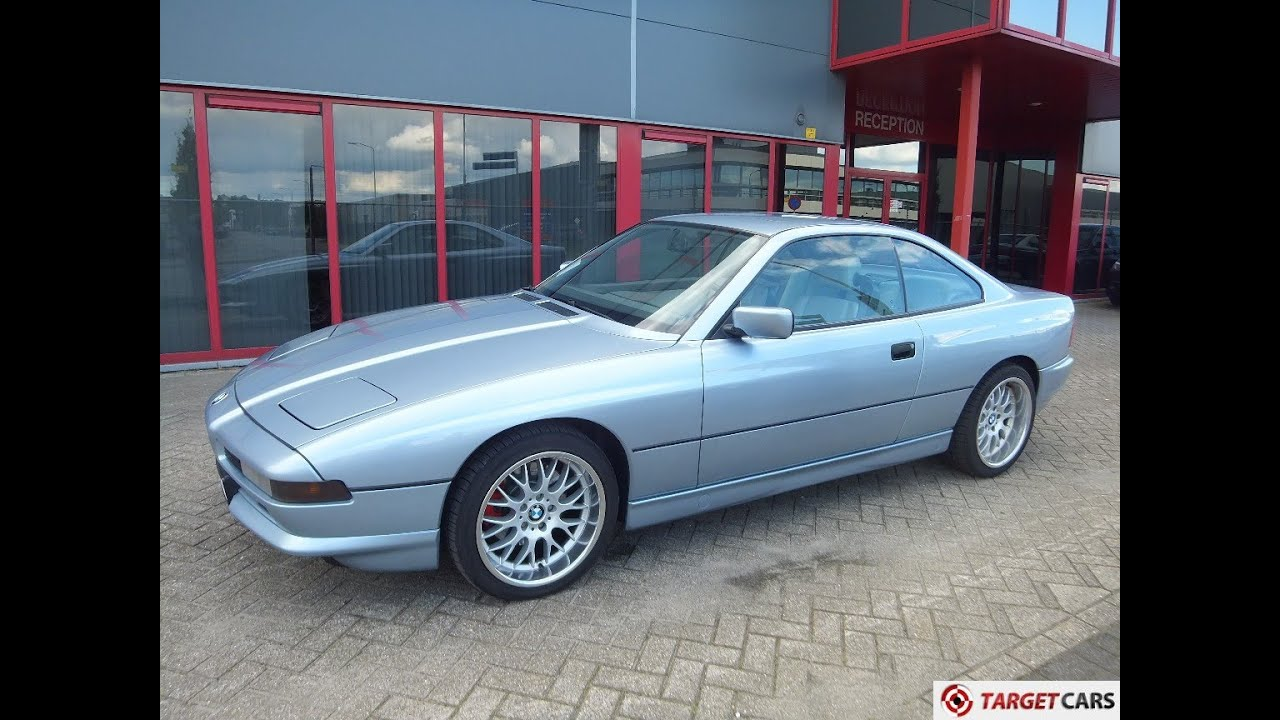 741039 BMW 850I E31 850CI COUPE AUT 50L 03 1991 BLUE 299HP 106910KM LHD