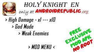 Holy Knight EN v1.1.700 | High Damage - God Mode - Weak Enemies | MOD APK FREE DOWNLOAD