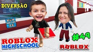 Roblox - DIVERSÃO NA ESCOLA!! (Robloxian Highschool) Family Plays