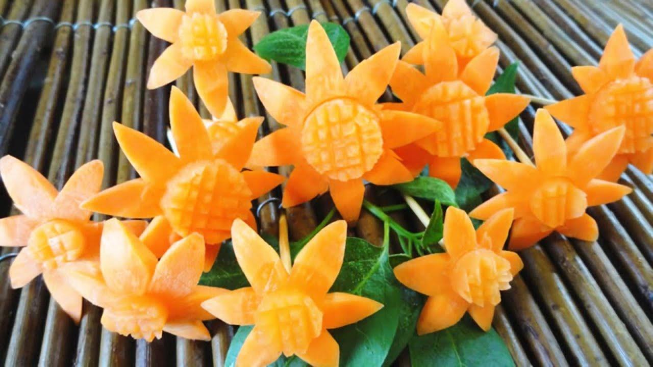 Как из овощей сделать цветы фото 236