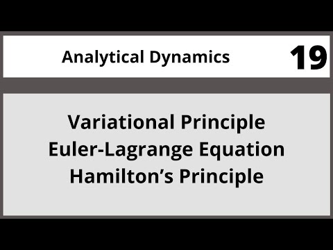 Analytical Dynamics in Hindi Urdu MTH382 LECTURE 19