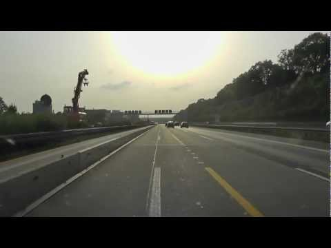 Driving the German Autobahn to France