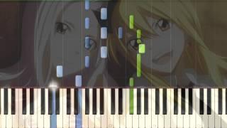 [Fairy Tail] ED 4 Kimi ga Iru Kara Piano Synthesia Tutorial