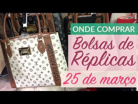 68b9fd86d Bolsas Réplica 25 de março - YouTube