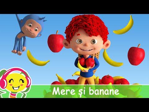 Mere si banane  Cantec cu fructe pentru copii  CanteceGradinita – Cantece pentru copii in limba romana