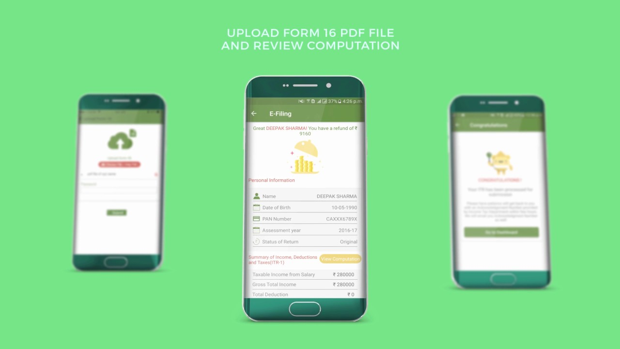 Income Tax Return e-filing App - All India ITR