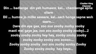 Zooby zooby   karaoke with lyrics