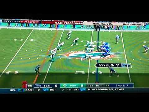 Miami Dolphins vs Titans DeMarco Murray gets lit up by Xavien Howard