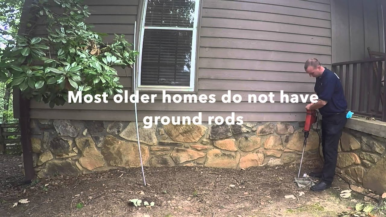 Electrical Grounding installation for a home - YouTube