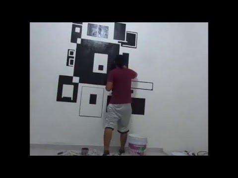 Pintando mi cuarto dise o con pintura youtube - Como pinto mi habitacion ...