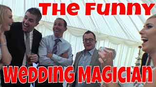 Wedding Magician Chris P Tee Funny Magic Trick with a Cup and Two Beautiful Assistants