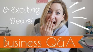 Business Q&A - Your Questions about starting a Handmade Business