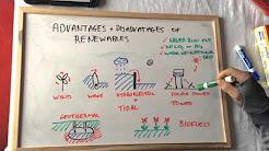 P1 Advantages and disadvantages of renewable energies