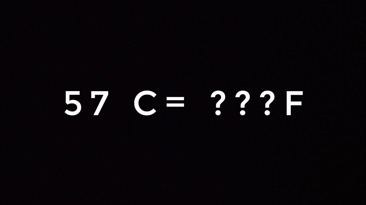57 degrees fahrenheit to celsius
