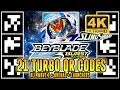 ALL 21 TURBO QR CODES BEYBLADE BURST TURBO APP (WAVE 1) EM 4K  + ZANKYE COLLAB!