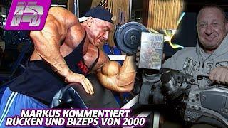 Markus kommentiert Bizeps- und Rückentraining aus dem Jahr 2000 (Markus Rühl XXXL-VHS) - Teil 2