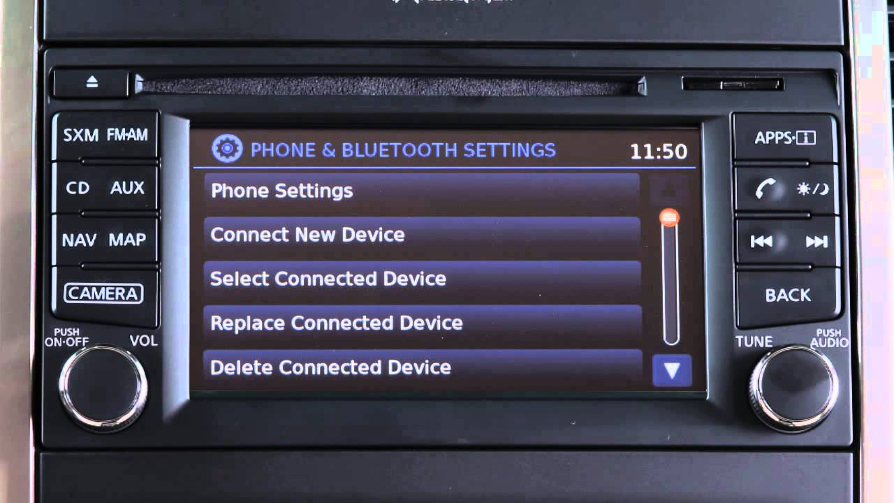 Toyota Highlander Owners Manual: Connecting a bluetoothdevice