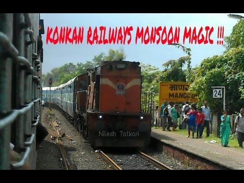 KONKAN RAILWAYS MONSOON MAGIC !!! JOURNEY THROUGH HEAVENLY KONKAN RAILWAYS IN MONSOON !!!