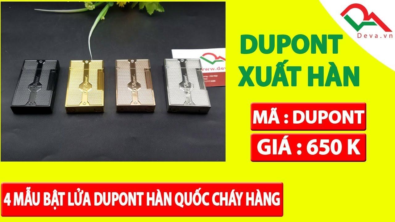 4 chiếc bật lửa Dupont xuất Hàn Quốc tiếng hay, hoa văn đẹp | Deva.vn