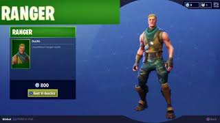 Ranger Outfit Character Skin Uncommon Loot Item for Fortnite Battle Royale